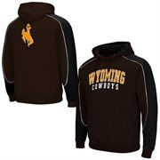 Mens Wyoming Cowboys Brown Thriller Pullover Hoodie