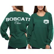 Women's Ohio Bobcats Green Pom Pom Jersey Oversized Long Sleeve T-Shirt