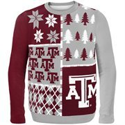 Texas A&M Aggies Gray Busy Block Ugly Sweater