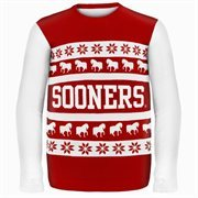 Oklahoma Sooners Wordmark Ugly Sweater