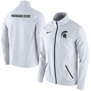 Mens Michigan State Spartans Nike White On-Court Game Jacket