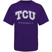TCU Horned Frogs Frame Baseball T-Shirt - Purple