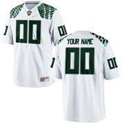 Mens Oregon Ducks Nike White Custom Replica Football Jersey
