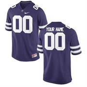 Kansas State Wildcats Nike Custom Game Football Jersey - Purple