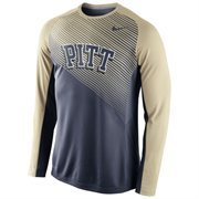 Mens Pitt Panthers Nike Navy Blue Fearless Shootaround Long Sleeve T-Shirt