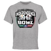 Mens Miami Hurricanes vs. South Carolina Gamecocks Ash 2014 Duck Commander Independence Bowl Dueling T-Shirt