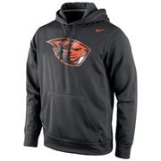 Oregon State Beavers Nike Warp Logo Therma-FIT Hoodie - Black