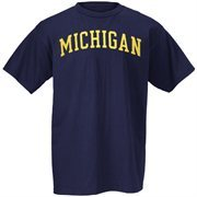 Men's Michigan Wolverines Navy Blue Arch T-Shirt