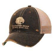 Southern Miss Golden Eagles Emblem Adjustable Hat - Black