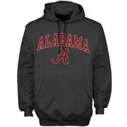 Mens Charcoal Alabama Crimson Tide Arch Over Logo Hoodie