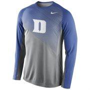 Mens Duke Blue Devils Nike Fearless Shootaround Long Sleeve T-Shirt