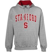 Stanford Cardinal Gray Classic Twill Hoodie Sweatshirt