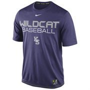 Mens Nike Purple Kansas State Wildcats Baseball Team Issue Legend Performance T-Shirt