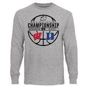 Men's Ash Wisconsin Badgers vs. Duke Blue Devils 2015 NCAA Men's Basketball National Championship Game Matchup Long Sleeve T-Shi