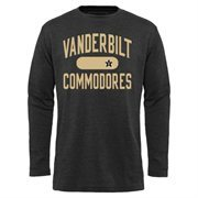 Mens Vanderbilt Commodores Black Straight Out Long Sleeve Thermal T-Shirt