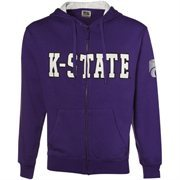 Kansas State Wildcats Purple Classic Twill Full Zip Hoodie Sweatshirt