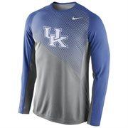 Mens Kentucky Wildcats Nike Gray 2014-2015 Fearless Shootaround Long Sleeve Dri-Fit Shirt