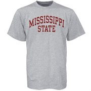 Men's Mississippi State Bulldogs Gray Arch T-Shirt
