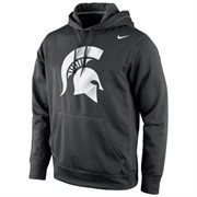 Michigan State Spartans Nike Warp Logo Therma-FIT Hoodie - Black