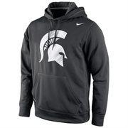 Michigan State Spartans Nike Warp Logo Therma-FIT Hoodie - Black