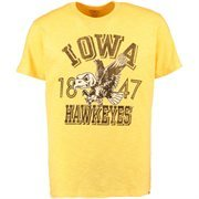 Men's '47 Brand Gold Iowa Hawkeyes Vintage Scrum T-Shirt