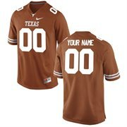 Men's Texas Longhorns Nike Burnt Orange Team Color Custom Game Jersey