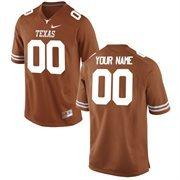 Men's Texas Longhorns Nike Burnt Orange Team Color Custom Game Jersey