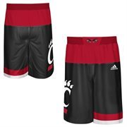 Men's adidas Black Cincinnati Bearcats 2015 March Madness Replica Basketball Shorts