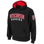 Wisconsin Badgers Double Arches Pullover Hoodie - Charcoal