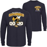 Mens GA Tech Yellow Jackets vs. Georgia Bulldogs Navy Blue 2014 Rivalry Week Score Long Sleeve T-Shirt
