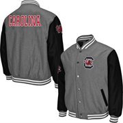 Mens South Carolina Gamecocks Gray Class Letterman Jacket