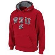 Mens Washington State Cougars Crimson Classic Arch Logo Twill Hoodie