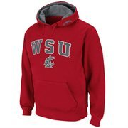 Mens Washington State Cougars Crimson Classic Arch Logo Twill Hoodie