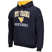 West Virginia Mountaineers Arch & Logo Mascot Pullover Hoodie - Navy Blue