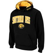 Mens Southern Miss Golden Eagles Black Classic Arch Logo Twill Hoodie