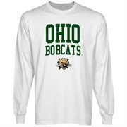 Ohio Bobcats Team Arch Long Sleeve T-Shirt - White