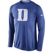 Men's Nike Blue Duke Blue Devils Disruption 2015 Basketball Shooting Dri-FIT Long Sleeve Shirt