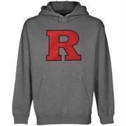 Mens Rutgers Scarlet Knights Gunmetal Core Logo Premium Hoodie