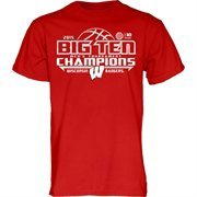 Men's Cardinal Wisconsin Badgers 2015 Big Ten Men's Basketball Conference Tournament Champions Locker Room T-Shirt