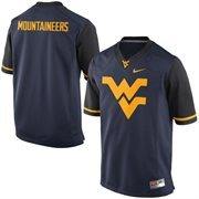Mens West Virginia Mountaineers Nike Navy Blue Team Pride Fashion Football Jersey