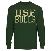 Mens South Florida Bulls Green Straight Out Long Sleeve T-Shirt