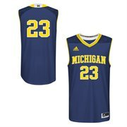 Men's adidas Navy Blue Michigan Wolverines March Madness #23 Replica Basketball Jersey