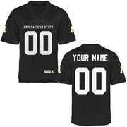 Appalachian State Mountaineers Personalized Football Name & Number Jersey - Black