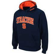 Mens Syracuse Orange Navy Blue Classic Arch Logo Twill Hoodie
