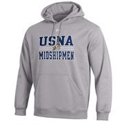 Mens Navy Midshipmen Under Armour Gray Performance Hoodie
