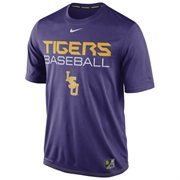 Mens Nike Purple LSU Tigers Baseball Team Issue Legend Performance T-Shirt