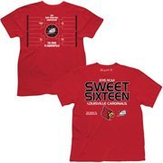 Men's Red Louisville Cardinals 2015 NCAA Men's Basketball Tournament Sweet 16 T-Shirt