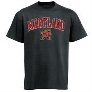Mens Charcoal Maryland Terrapins Arch Over Logo T-Shirt