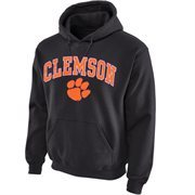 Clemson Tigers Midsize Arch Pullover Hoodie - Dark Gray
