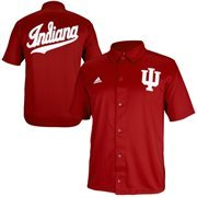 adidas Indiana Hoosiers Authentic On-Court Warm Up Shooting Shirt - Crimson